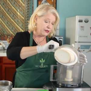 Making Marijuana Pie Crust Dough in the Food Processor