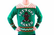 Let's Get Baked Marijuana Ugly Christmas Sweaters