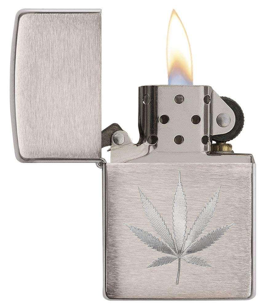 Marijuana Leaf Zippo Lighter