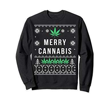 Merry Cannabis Christmas Sweatshirt