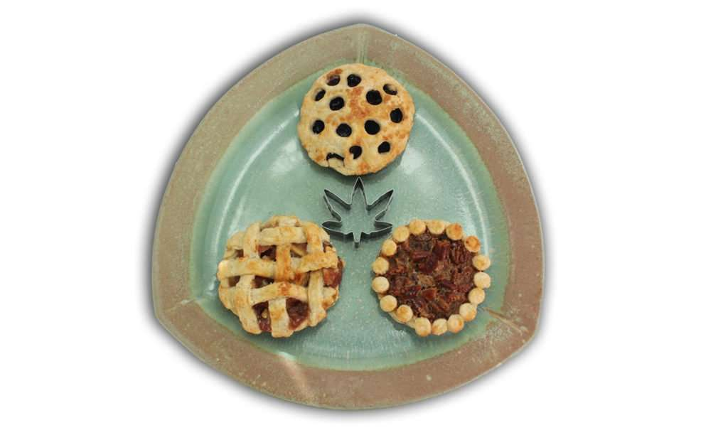 Marijuana Pies, Apple Marijuana Pie, Blueberry Marijuana Pie, and Pecan Marijuana Pie