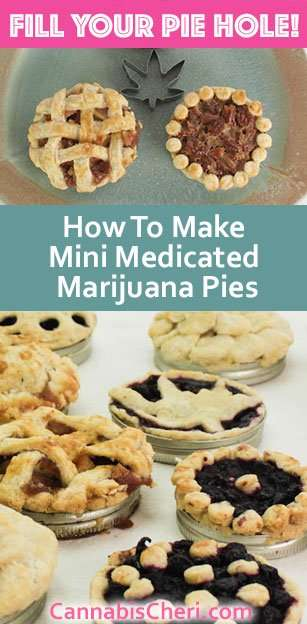 How to make Mini Marijuana Pies in Mason Jar Lids