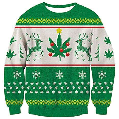 Marijuana Christmas Ugly Sweater