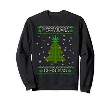 Marijuana Ugly Christmas Sweaters Bring Stoner Style to the Party