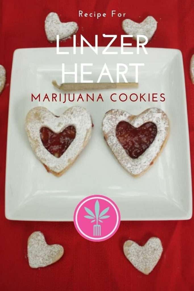 Marijuana Infused Linzer Heart Cookies
