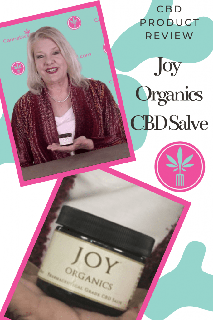 womanholding Joy Organics CBD salve