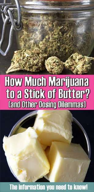 How much marijuana to a cup of butter (and other dosing dilemmas)
