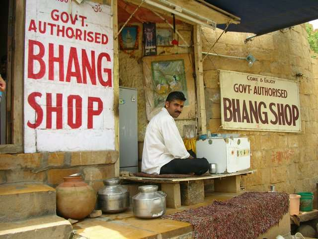 The History of Eating Cannabis - A Bhang Shop in India