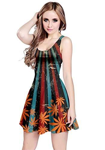 Striped marijuana leaf sundress