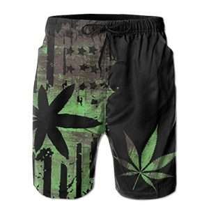 Urban Vice Men's Marijuana Swin Trunks