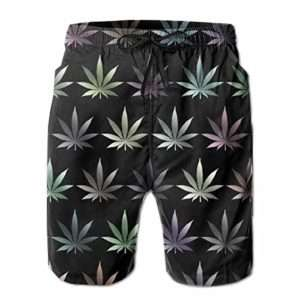 Elegant Men's Marijuana Swim Trunks