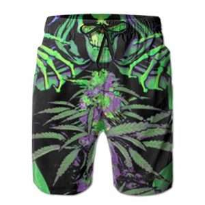 Grim Reaper Marijuana Swim Trunks for Men