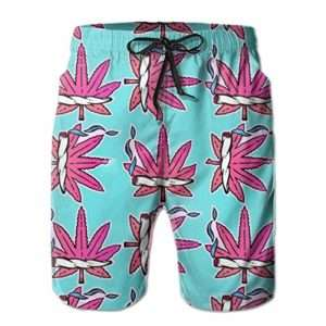 Whimsical marijuana joint swim shorts