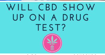 CBD molecule and scientific drug testing vials