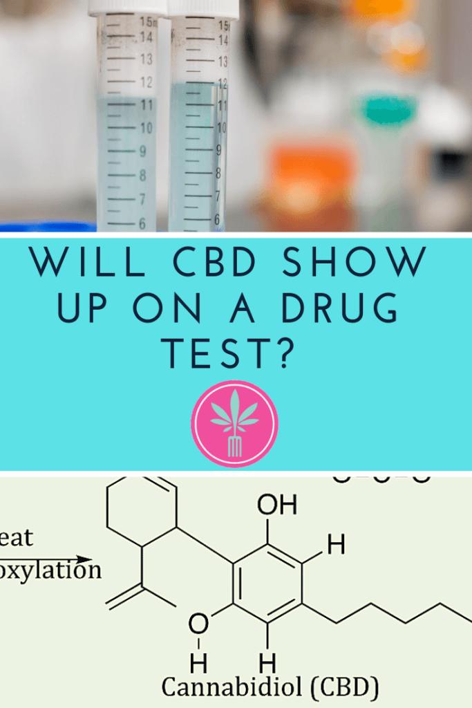 CBD molecule and scientific drug testing vials