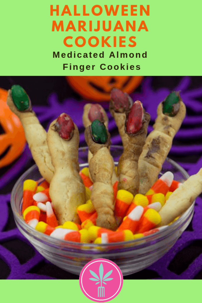 Marijuana Infused Halloween Almond Finger Cookies