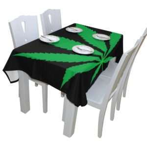 Single Marijuana Leaf Tablecloth
