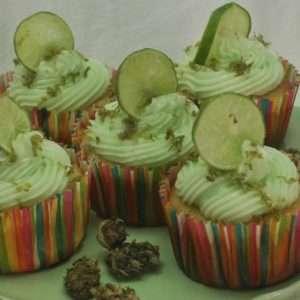 Marijuana Infused Key Lime Cupcakes