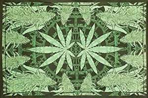 Tapestry marijuana tablecloth