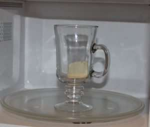 Marijuana Microwave Omelet in a Mug - Butter in mug