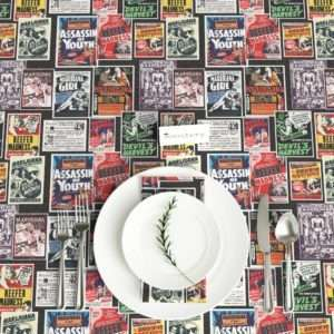 vintage style Reefer Madness tablecloth