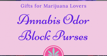 Annabis Odor Black purses for marijuana lovers