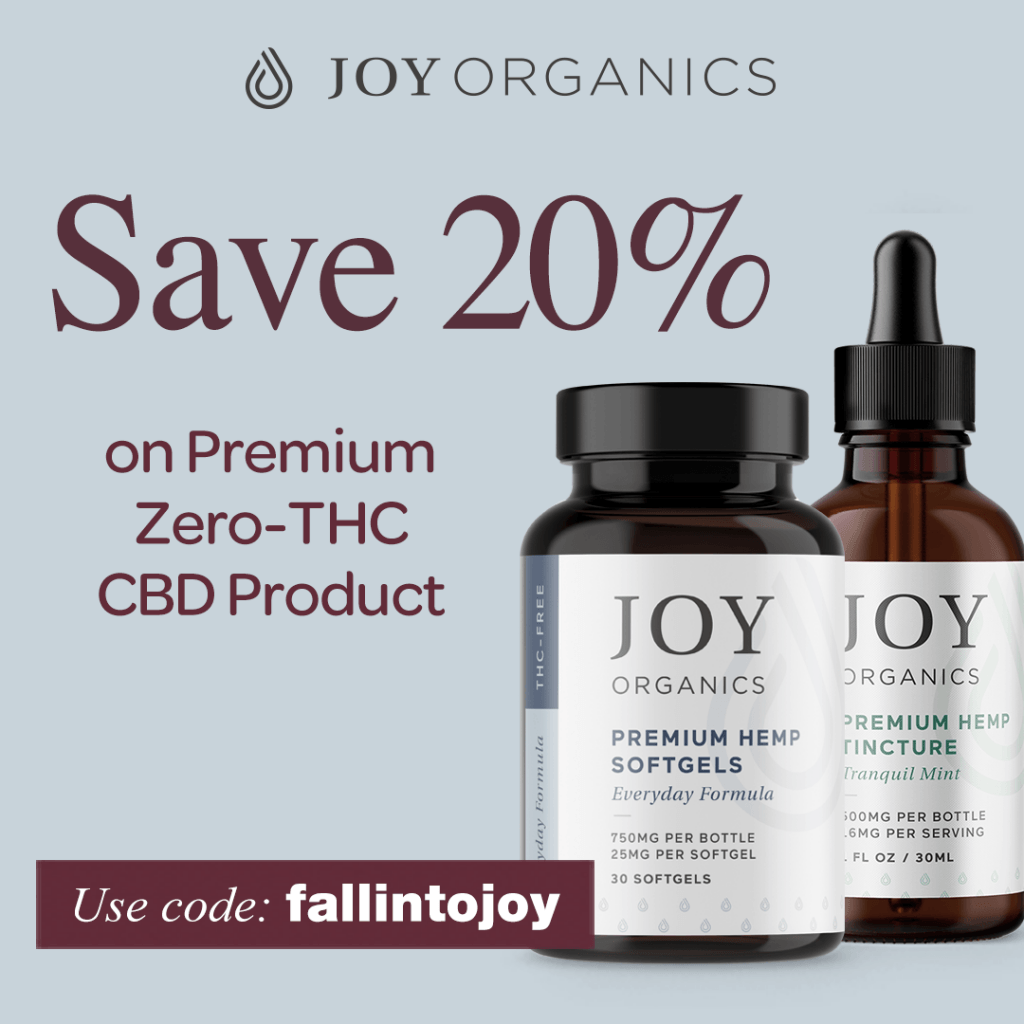 2 bottles of Joy Organics CBD Products