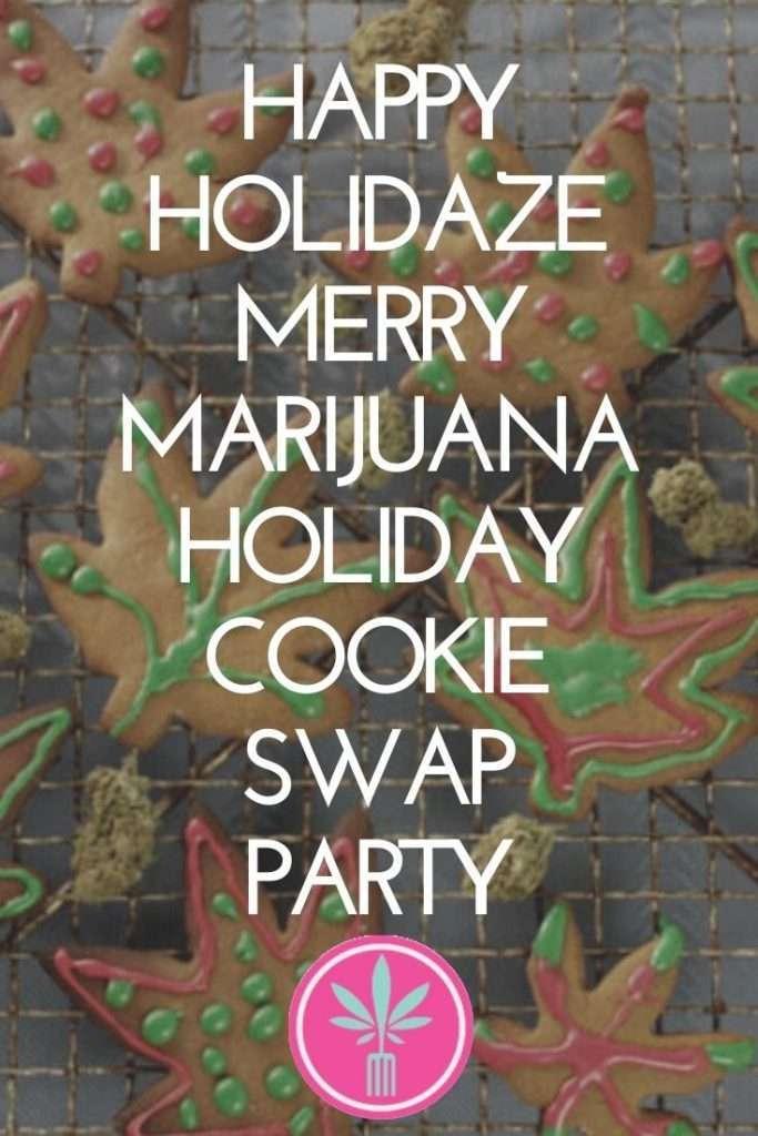 Marijuana infused holiday cookies