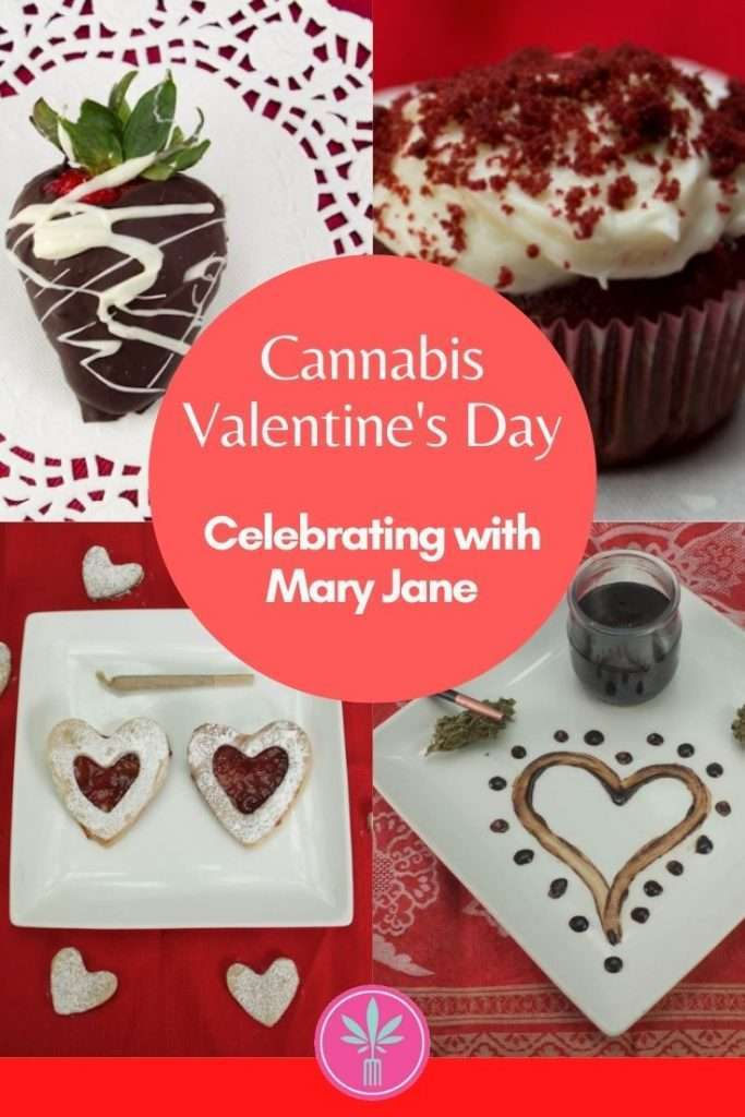 Marijuana Valentine's Day images - cookies, masssage oil, body paint, chocolate covered strawberry