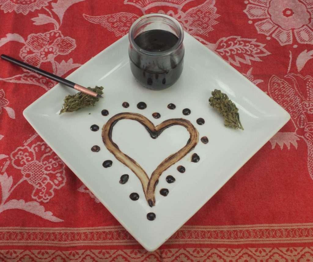 marijuana chocolate edible body paint