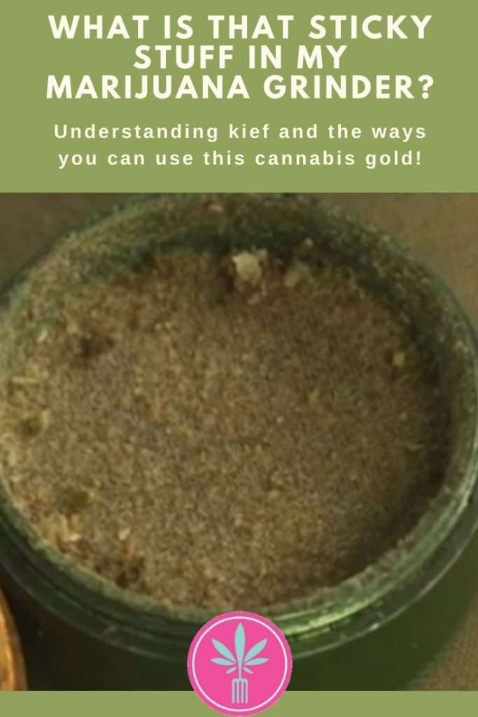 A well used marijuana grinder filled with kief