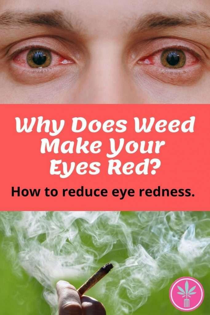 red eyes and marijuana smoke