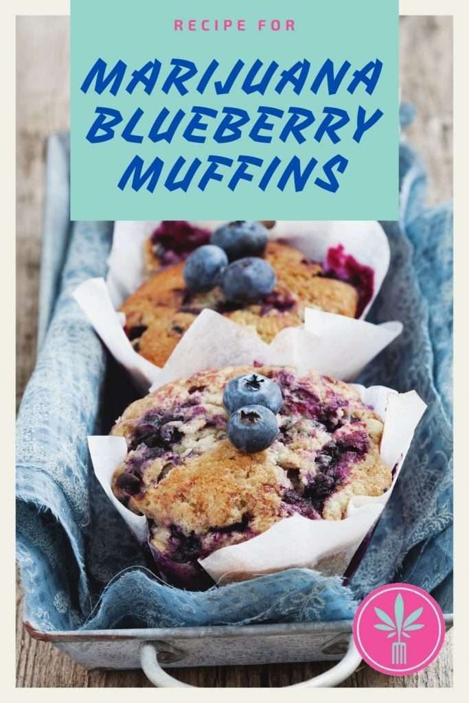 cannabis infused blueberry muffins