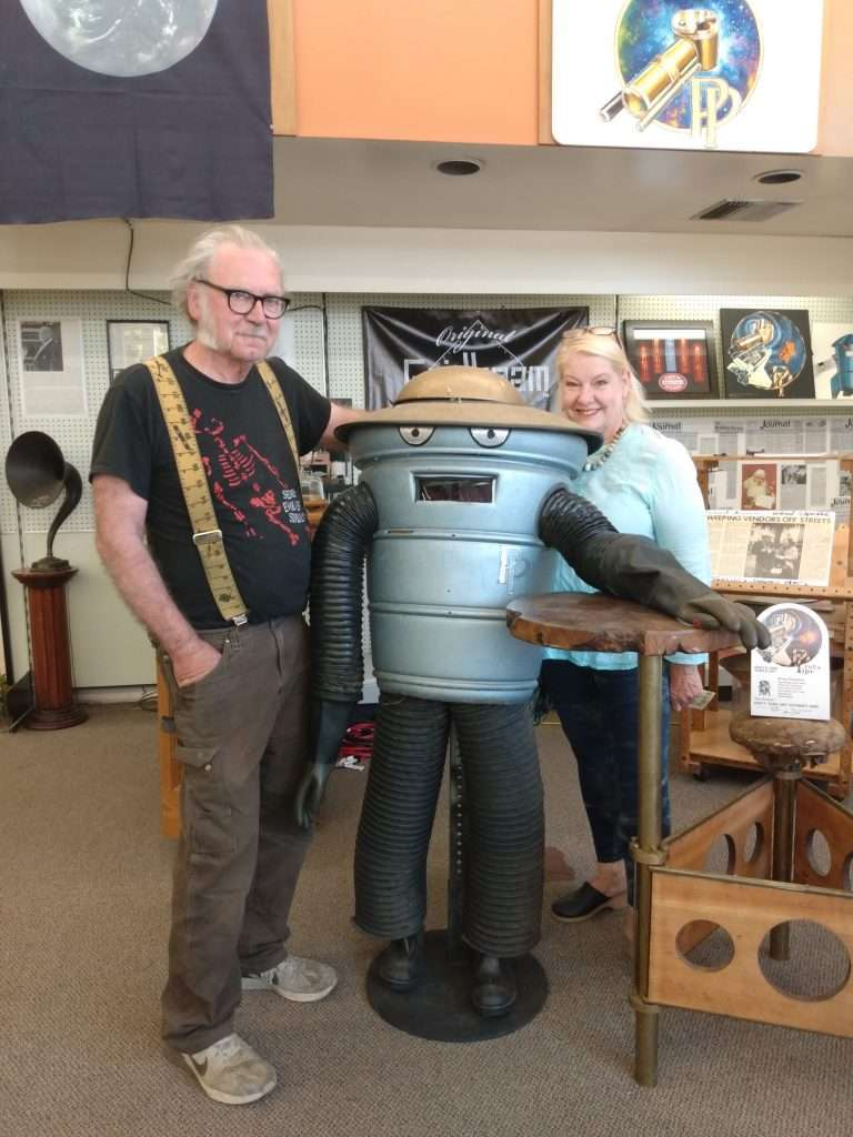 Cheri Sicard and Richard Jergenson at the Cannabis Museum, Willits, CA